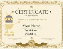 #5 untuk I need a certificate oleh zakariahossain64