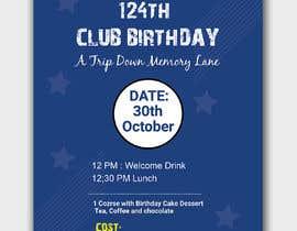 #34 for Design a Club Birthday flyer by piashm3085