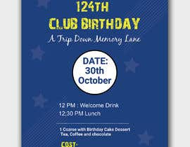 #35 for Design a Club Birthday flyer by piashm3085