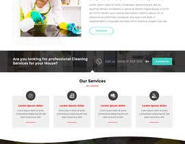 #7 для Design a One Page Website for a cleaning Company Service от anusri1988