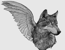#32 for 1 Wolf & 1 wing Tattoo Design af niculamircea