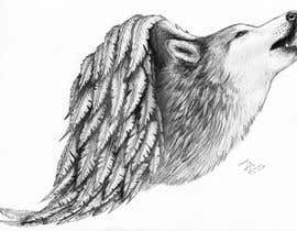 #26 for 1 Wolf & 1 wing Tattoo Design af luismoncada1082