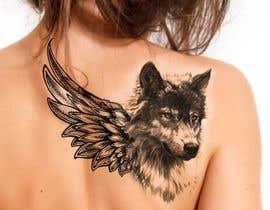#25 for 1 Wolf & 1 wing Tattoo Design af hossaingpix