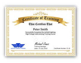 #43 for Please make this certificate more professional and editable by shila34171