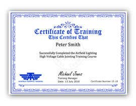 #44 for Please make this certificate more professional and editable by shila34171