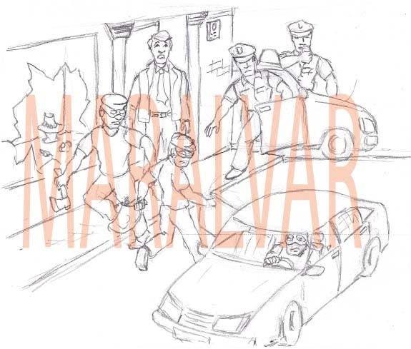 Конкурсная заявка №2 для Illustration Design for children's composition writing class - robbery