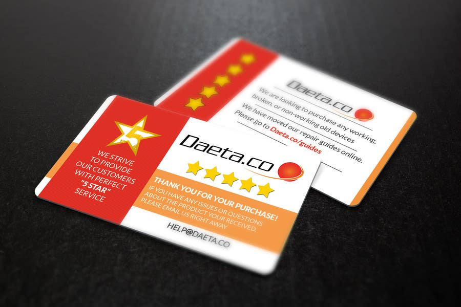Entry #12 by s04530612 for Design Business Cards for 5-Star Feedback ...