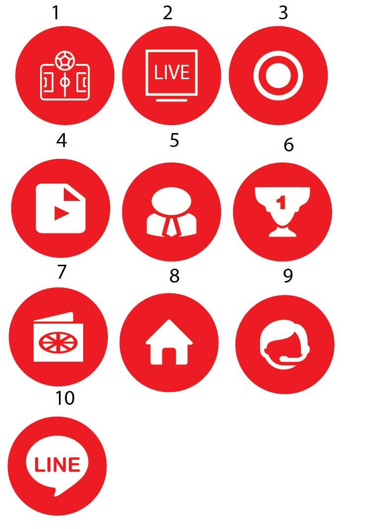 Penyertaan Peraduan #3 untuk 10 circle small icon for android application