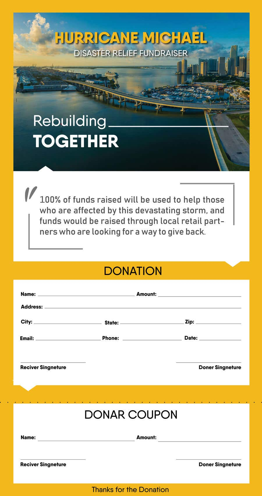 Конкурсная заявка №139 для Hurricane Michael Disaster Relief Fundraiser