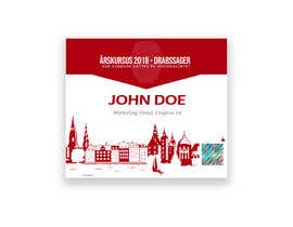 nº 37 pour Design template ID card design for conference par whitebeast