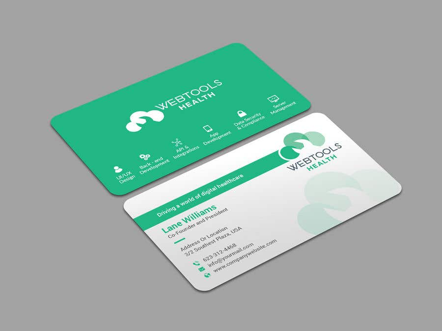Contest Entry #1184 for Business Card Design - Webtools Health