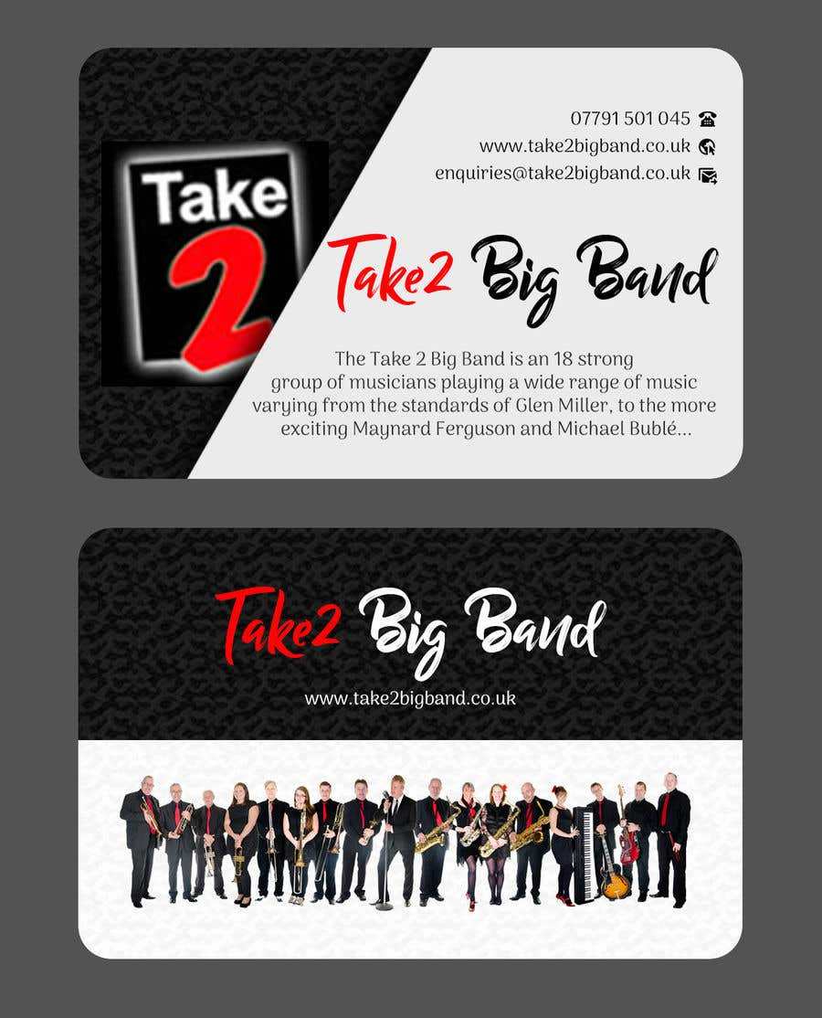 Entry 22 By Joyrel For Design A Business Card For A Big Band