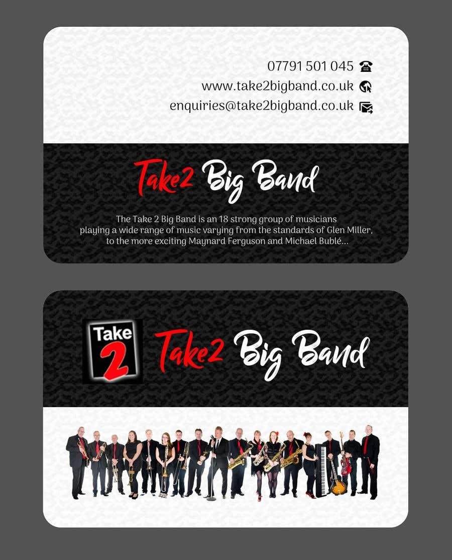 Entry 24 By Joyrel For Design A Business Card For A Big Band