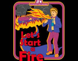 "#26 for graphic design - retro cartoon illustration - ""lets start a fire"" by imperartor"