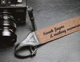 "#3 para I need my leather camera strap logo designed, I want it to say ""Sarah Jayne"" & also ""making memories"" two different fonts. por sabbir384903"