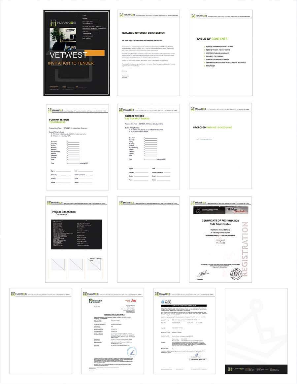 Kilpailutyö #10 kilpailussa Tender Proposal / Brochure
