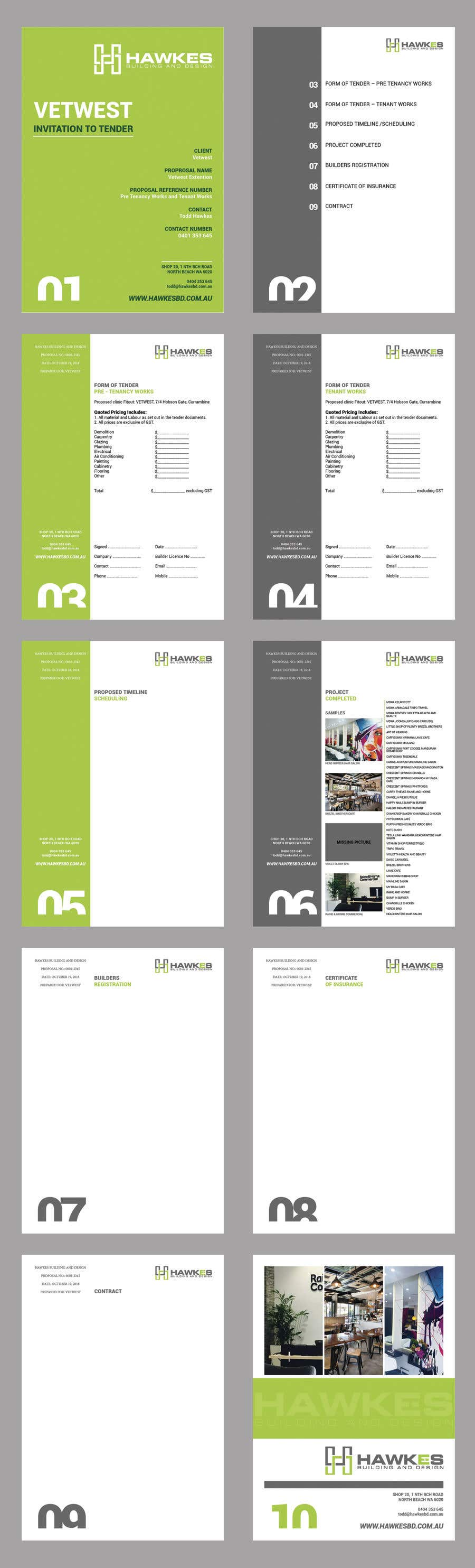Kilpailutyö #25 kilpailussa Tender Proposal / Brochure