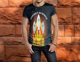nº 68 pour Rocket Science Graphic T-Shirt Design par SajeebRohani