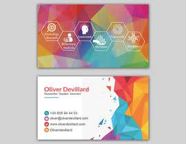 #198 for Design a business card with a technology and connection theme by patitbiswas