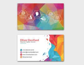 #216 for Design a business card with a technology and connection theme by patitbiswas