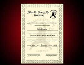 nº 14 pour Shaolin Kung Fu Certificate par jeevanmalra