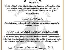 #15 untuk Shaolin Kung Fu Certificate oleh Nooramanina