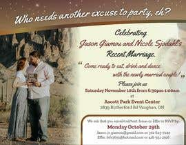 Nro 16 kilpailuun post wedding reception e-vite käyttäjältä SaxenaKuldeep