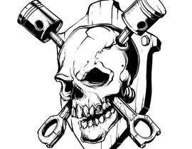 #20 for Illustrate a Skull with Pistons by yesdezign