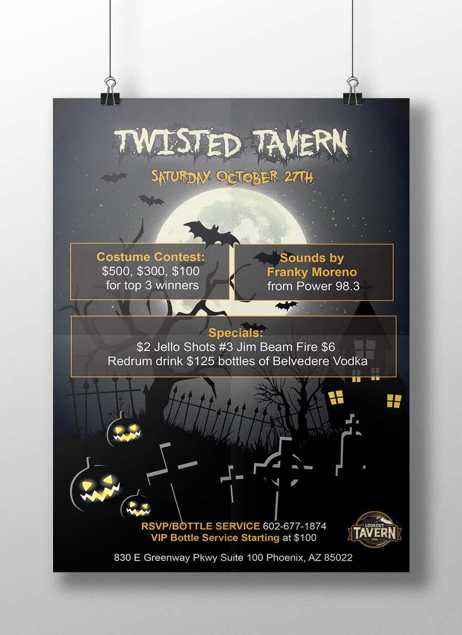 entry 12 by fall3n0005000 for halloween club flyer freelancer