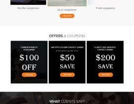 nº 37 pour Forward thinking, creative, retail OPTICAL website DESIGN challenge! par writi09