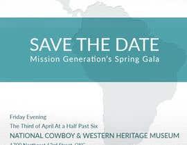 kurosawa tarafından Design a Save the Date (Invitation) to a benefit Gala. için no 9