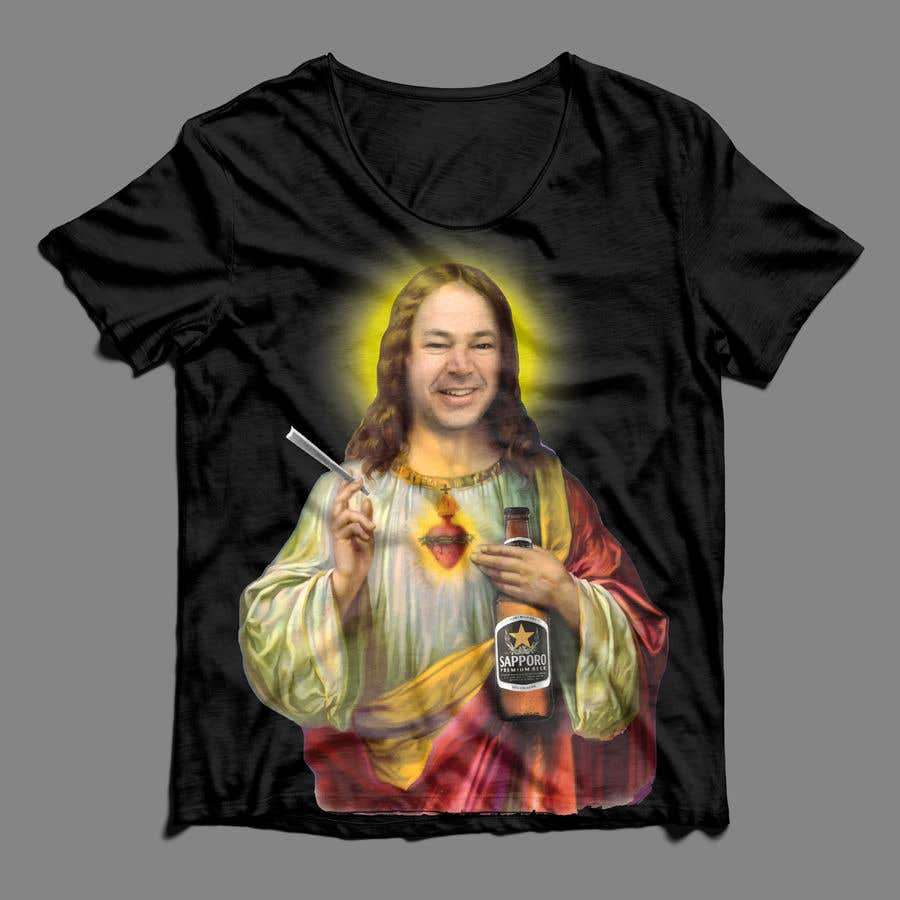 Konkurrenceindlæg #43 for T-Shirt with Jesus drawing + face merge and text