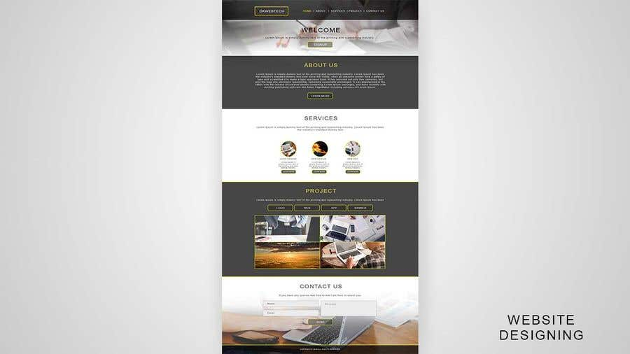 Kilpailutyö #6 kilpailussa Web Design for Startup
