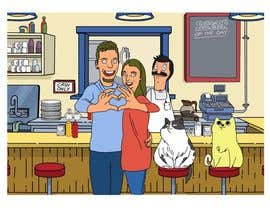 #13 for Draw me, my wife, and our cats in a custom Bob's Burgers portrait af berragzakariae