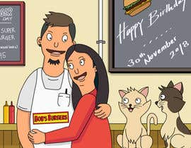 #4 for Draw me, my wife, and our cats in a custom Bob's Burgers portrait af felixhadi