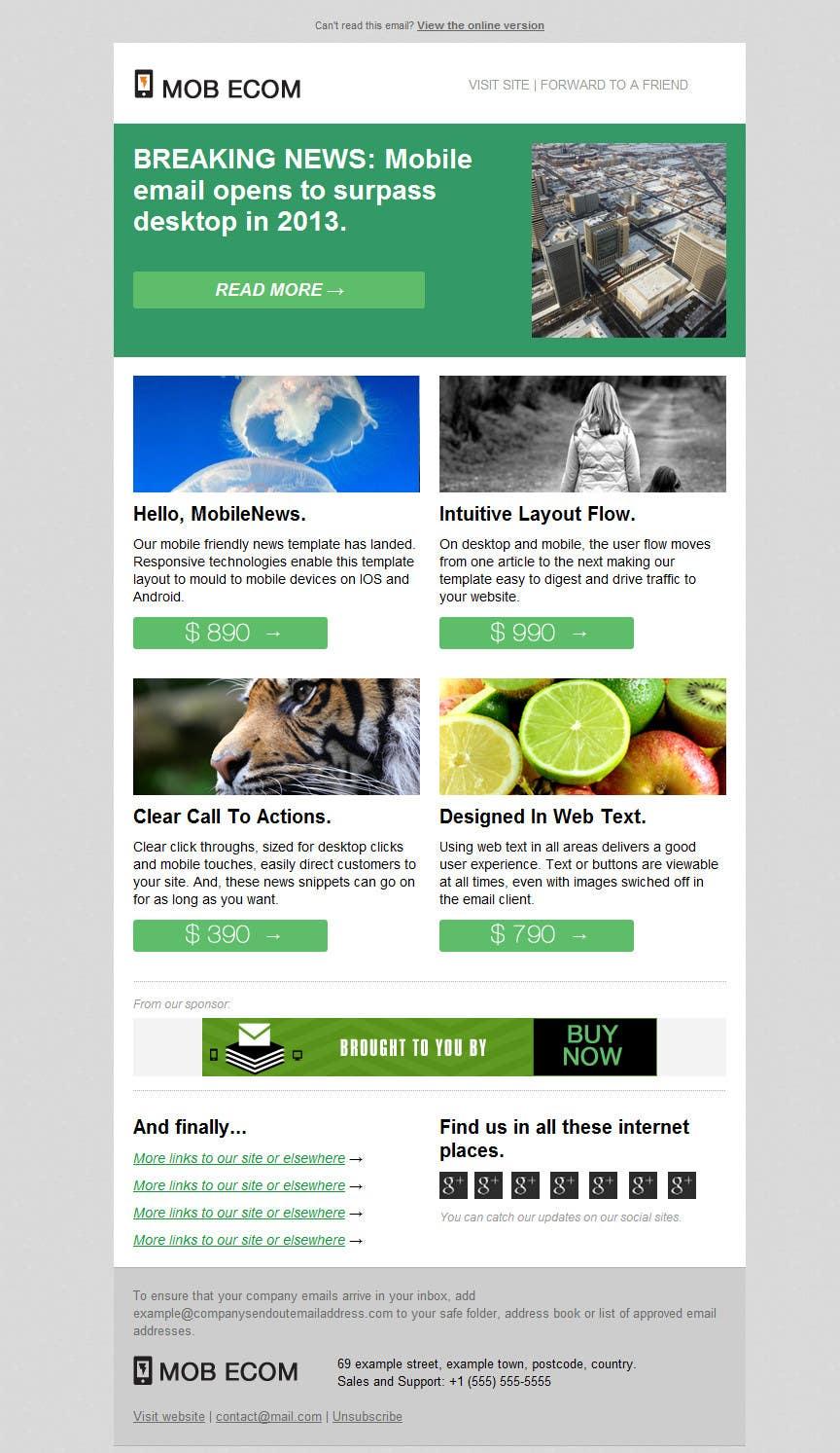 Contest Entry #                                        6                                      for                                         Email Marketing Template - e-Commerce