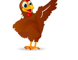 Nro 23 kilpailuun Design a dabbing Turkey color vector image for a cookie cutter käyttäjältä blphotoeditor