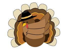 Nro 11 kilpailuun Design a dabbing Turkey color vector image for a cookie cutter käyttäjältä sonalfriends86