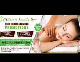 #26 for Design a thanksgiving seasonal promotional banner ad for a spa af rahatrc