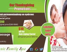 #33 for Design a thanksgiving seasonal promotional banner ad for a spa af saminaakter20209
