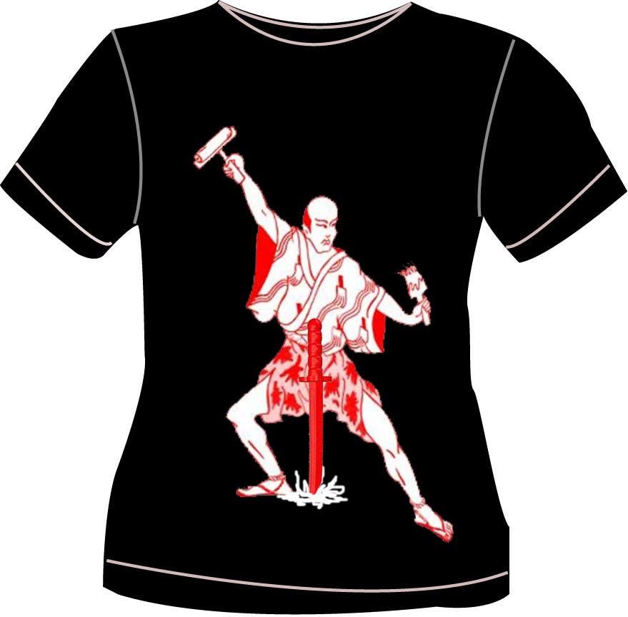 Contest Entry #                                        47                                      for                                         Samurai T-shirt Design for Cripplejitsu