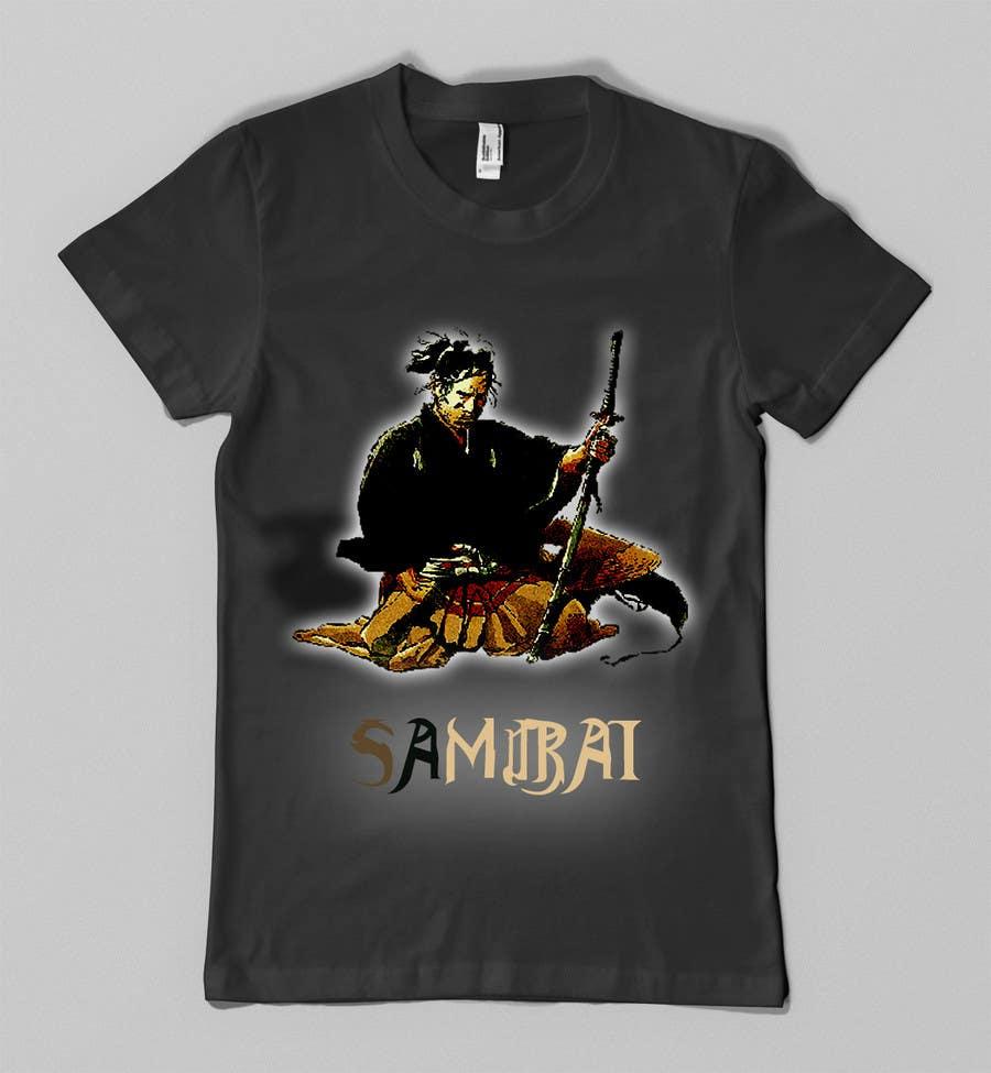 Contest Entry #                                        23                                      for                                         Samurai T-shirt Design for Cripplejitsu