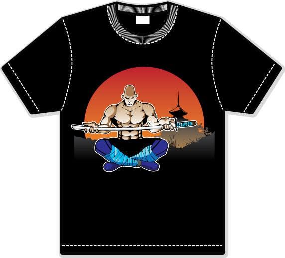 Proposta in Concorso #                                        21                                      per                                         Samurai T-shirt Design for Cripplejitsu