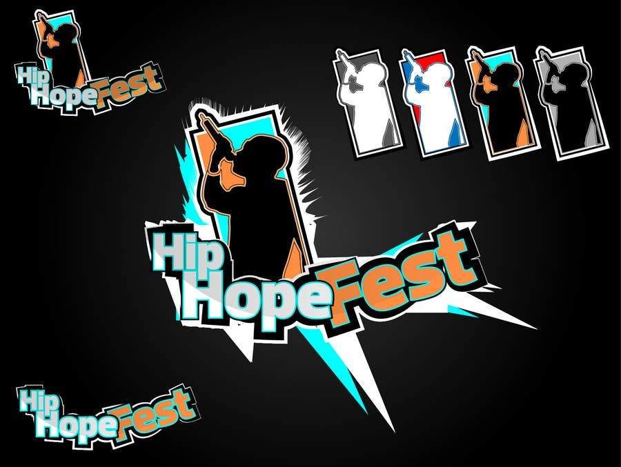#41 for Logo Update for Hip Hope Fest by hatterwolf