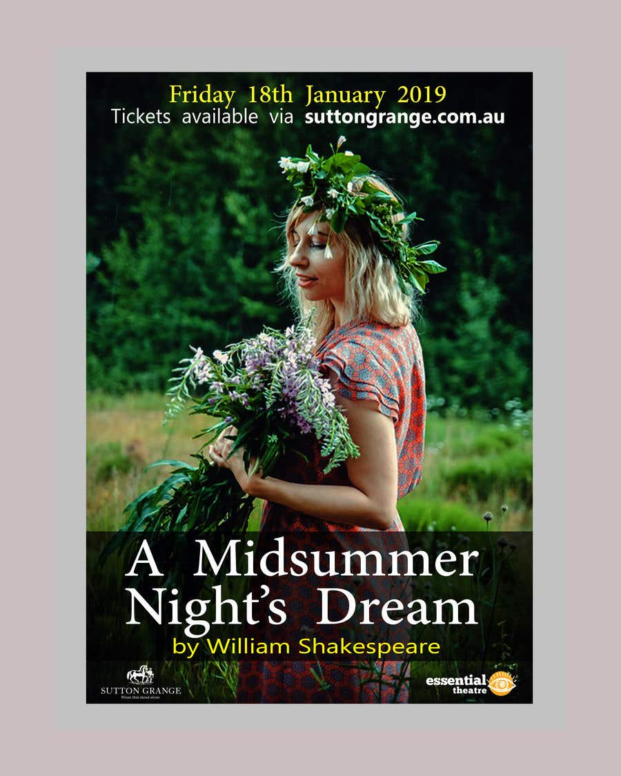 Contest Entry #80 for Theatre Poster - A midsummer nights dream