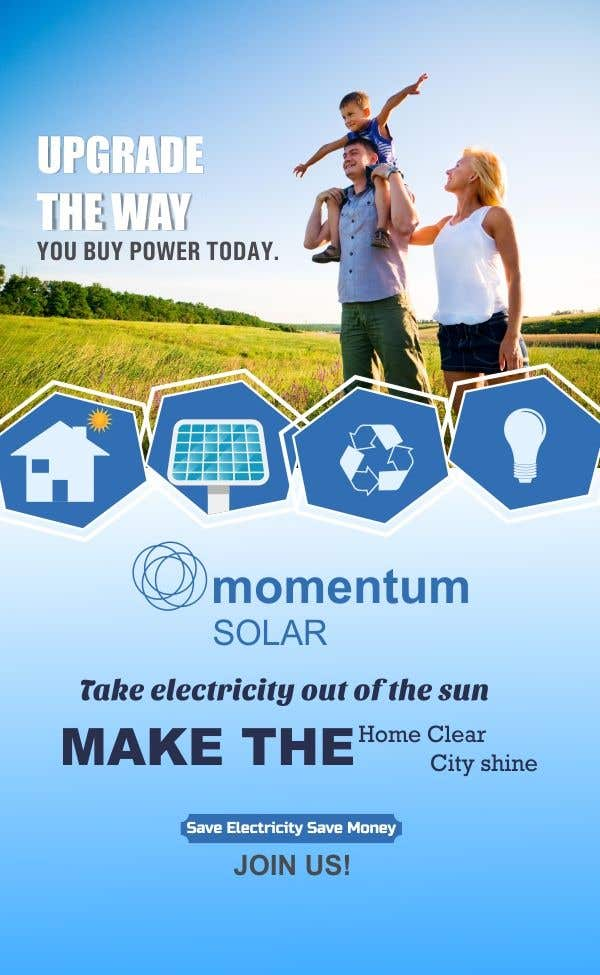 Proposition n°8 du concours Create a Leave-behind/Dinner Invitation for potential solar customers