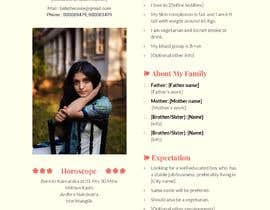 nº 4 pour Design Marriage Bio data Docx [Only for creative designers, no need to code ] par RasheedEqbal