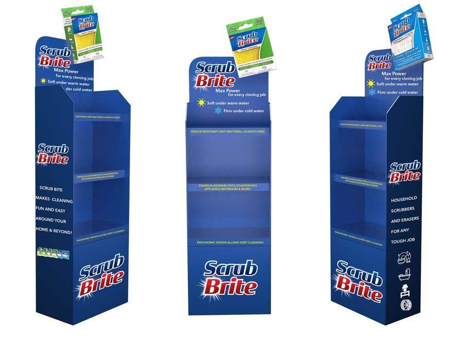 Kilpailutyö #45 kilpailussa Cardboard Display Stand Design