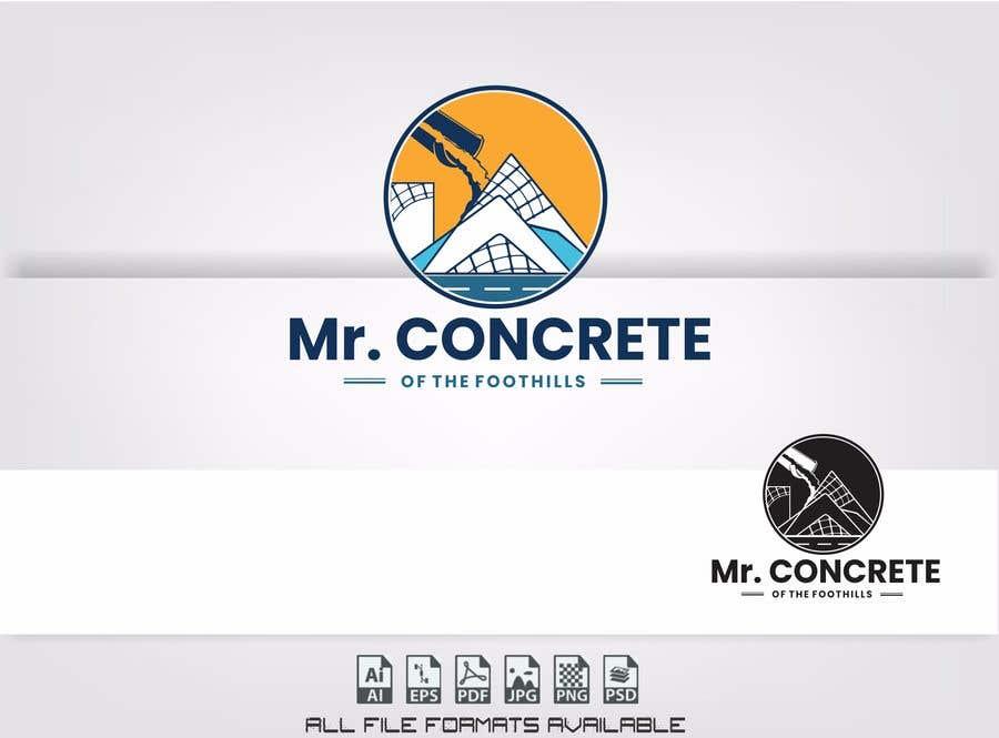 Konkurrenceindlæg #44 for Mr Concrete of the Foothills Logo