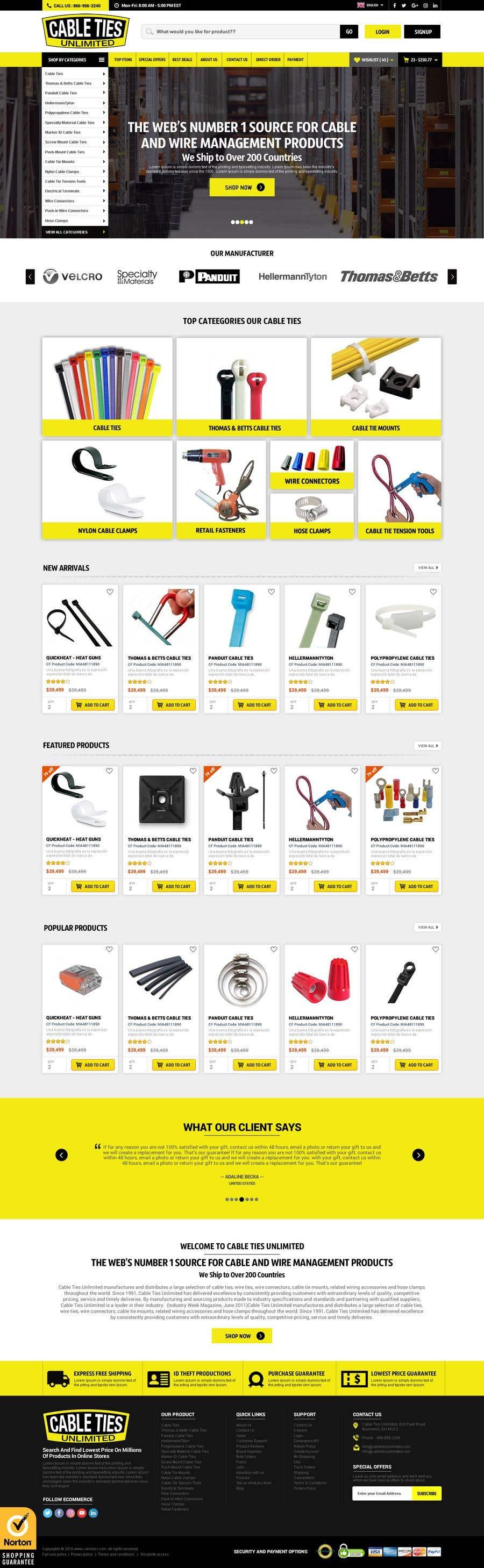 Kilpailutyö #46 kilpailussa Redesign an Ecommerce Website Homepage